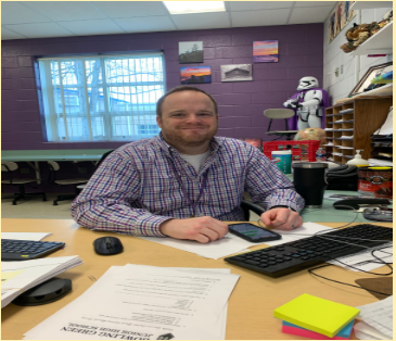Mr. Quinn a 7th grade social studies teacher loves teaching his students.