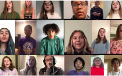 Mr. Shanklin's  acappella group  virtually performing