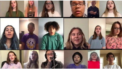 Mr. Shanklins  acappella group  virtually performing Attention